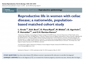 Journal Club: Reproductive life in women with celiac disease